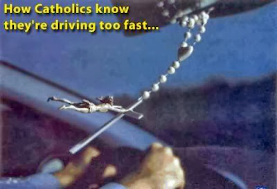 Image: How Catholics know they are driving to fast
