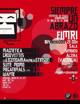 EL 1ER FESTIVAL DE MÚSICA INDEPENDIENTE FIMRI 2013 CIERRA SU CARTEL