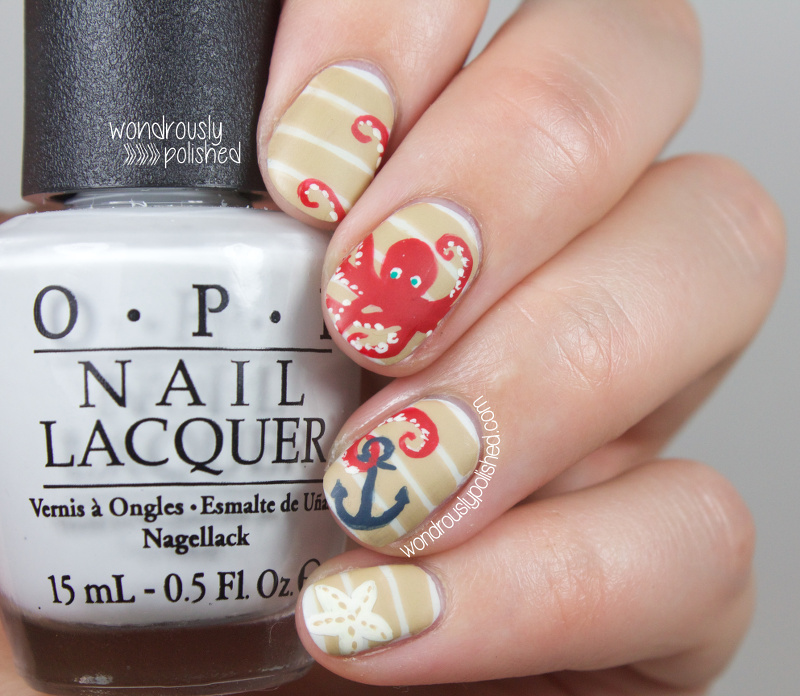 Wondrously polished the beauty buffs nauticalbeach trend nail art with this being my first nautical look i went back and forth on doing what might be considered the traditional nautical inspired mani for today prinsesfo Image collections