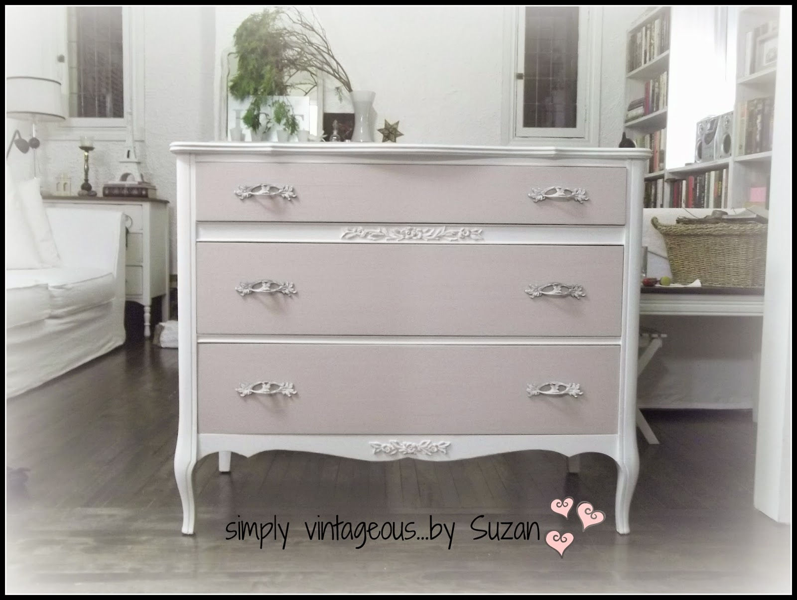 Antoinette Chalk Paint - French Provincial dresser makeover
