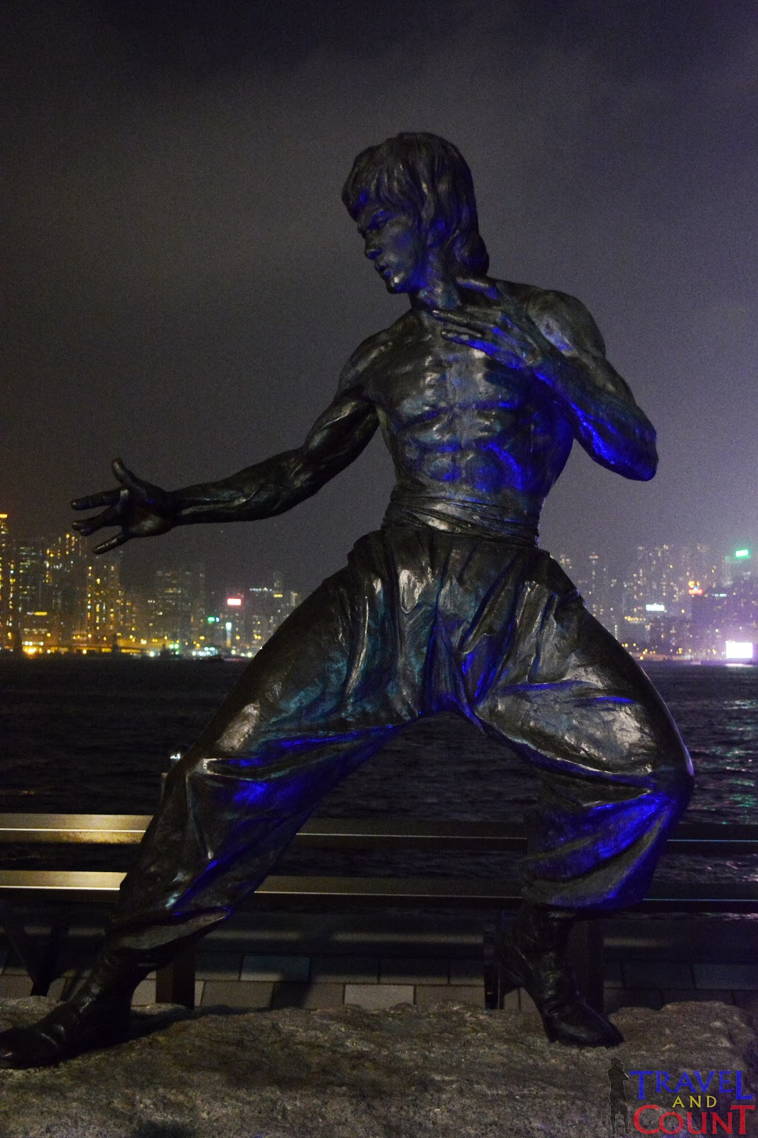 Bruce Lee Statue at Avenue of the stars