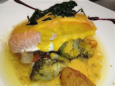 Salmón. Restaurante Casa Decor 2013. Blog Esteban Capdevila