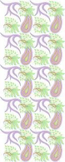 swaar paisley borduurwerk Oral Patroon