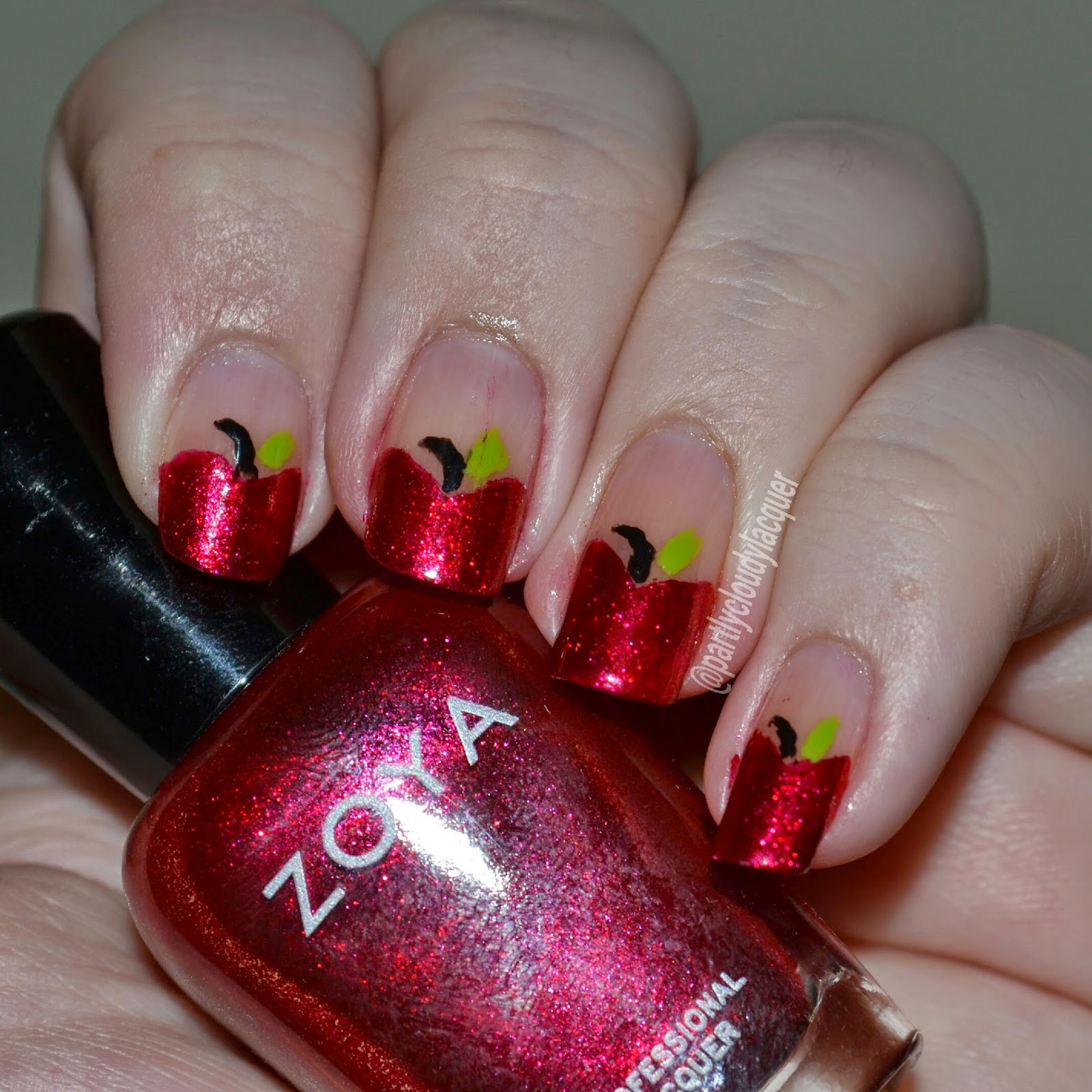 Fall Ing For Nail Art Challenge Fall Food Partly Cloudy With A