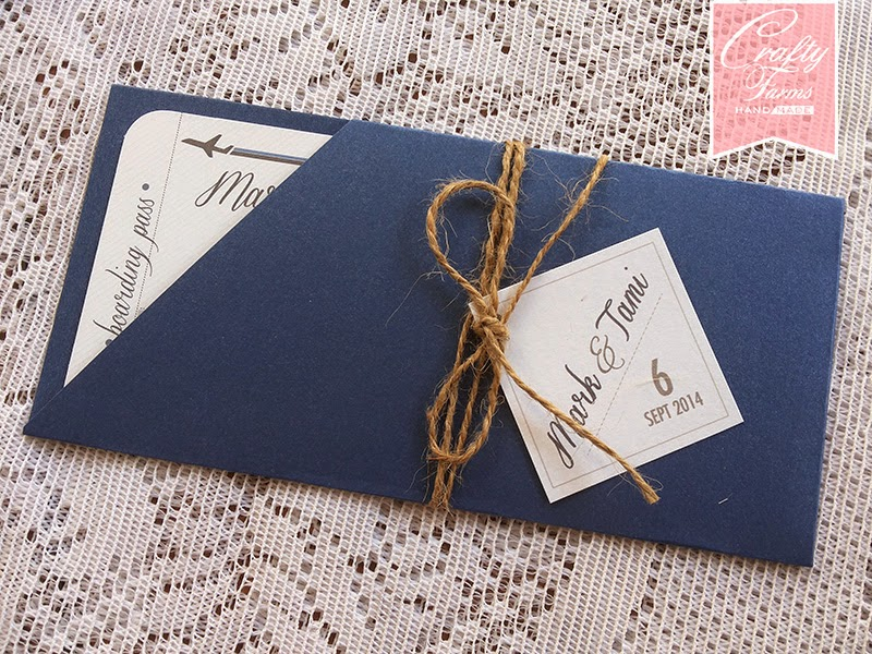 St John's Church Malacca Wedding boarding pass invitation card design