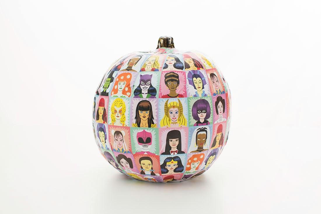 Como Hacer una Calabaza con Decoupage para Halloween