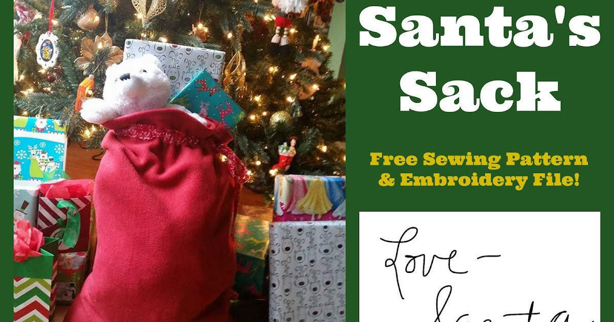 Create Kids Couture: Santa\'s Sack Pattern and Embroidery File