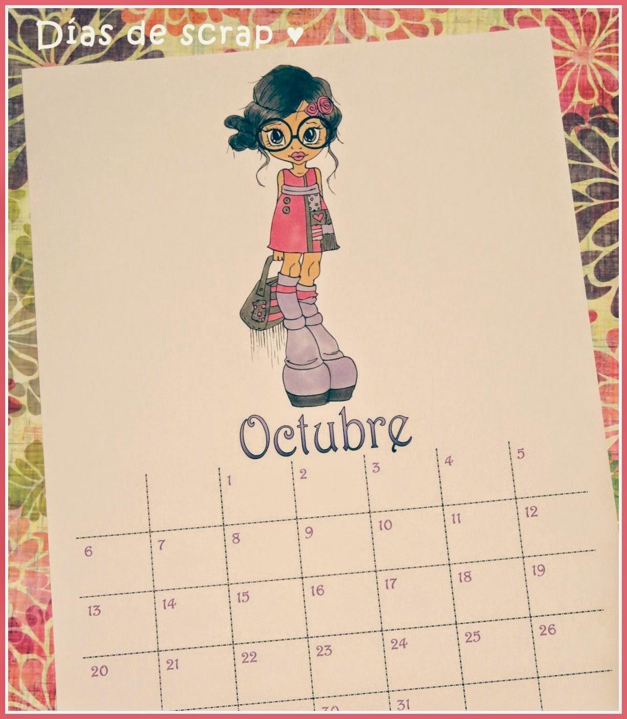 scrap calendario saturated canary violet