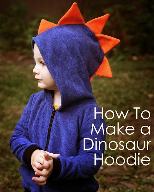 dinosaur hoodie DIY