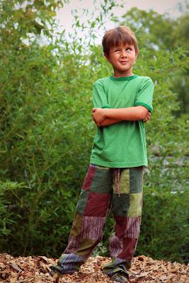 Kids Patchwork Pants