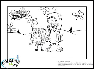 spongebob coloring pages for print