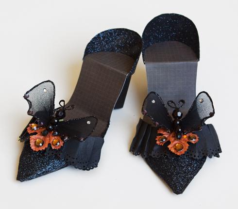Cinderella Paper Shoe Template A paper shoe template i