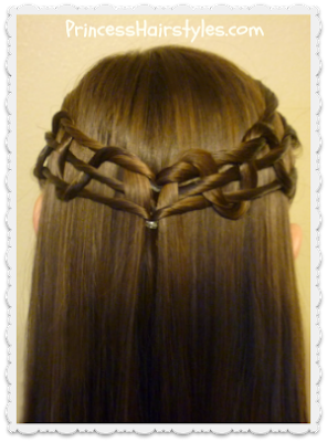 Snake weave crown, tie back hairstyle tutorial
