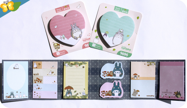 Post-it et minis post-it Totoro - Le Club des Sottes