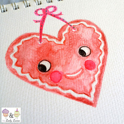 Gingerbread Heart Design by Lady Lucas