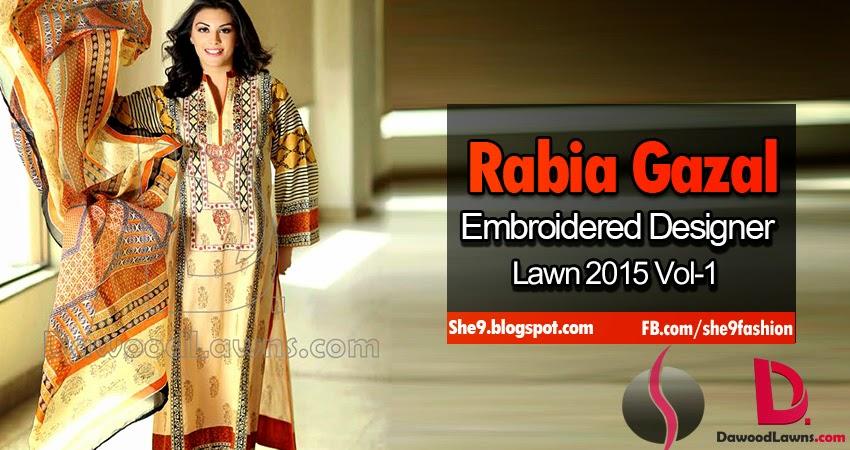 Rabia Gazal Designer Embroidered Lawn