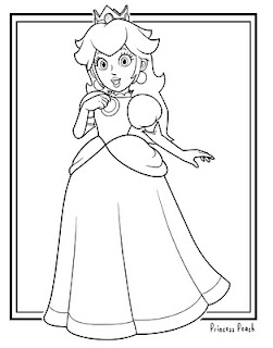 princess peach coloring pages