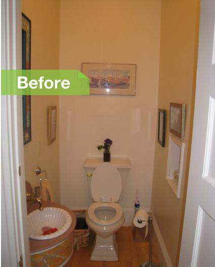 The Tile Shop Design by Kirsty Creative Half Bath Redesign -> Banheiro Pequeno Embaixo De Escada