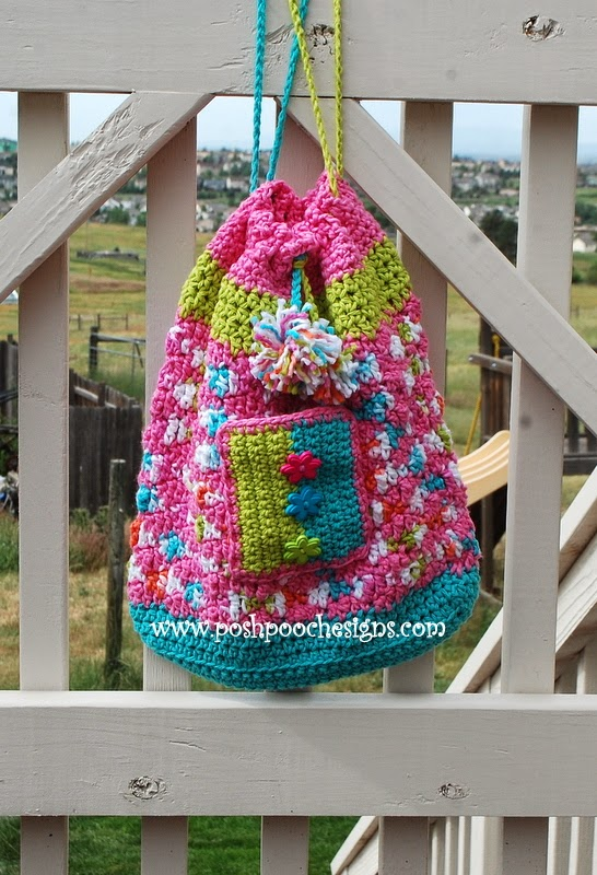 Free Crochet Pattern Beach Bag : Posh Pooch Designs Dog Clothes: Sweet Treats Drawstring ...