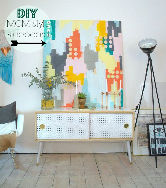 DIY Mid Century Modern Style sideboard