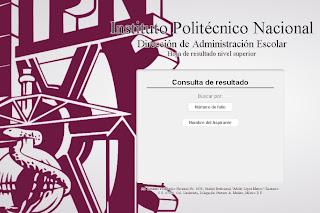 Resultados del exámen admisión Politecnico IPN 2013 publicacion resultado registro 14 de Julio