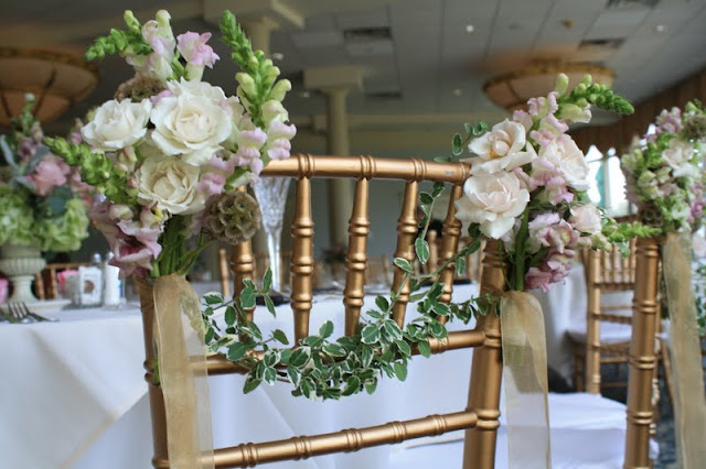Sweet bride and groom chairs - Splendid Stems Floral Designs