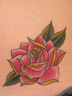 Hip Rose Tattoo Design Picture Gallery - Hip Rose Tattoo Ideas