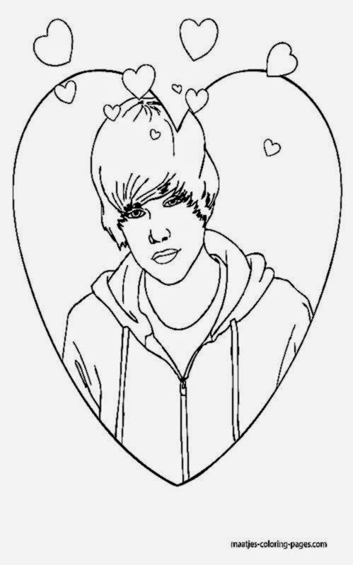 justin time coloring pages - famous people coloring pages