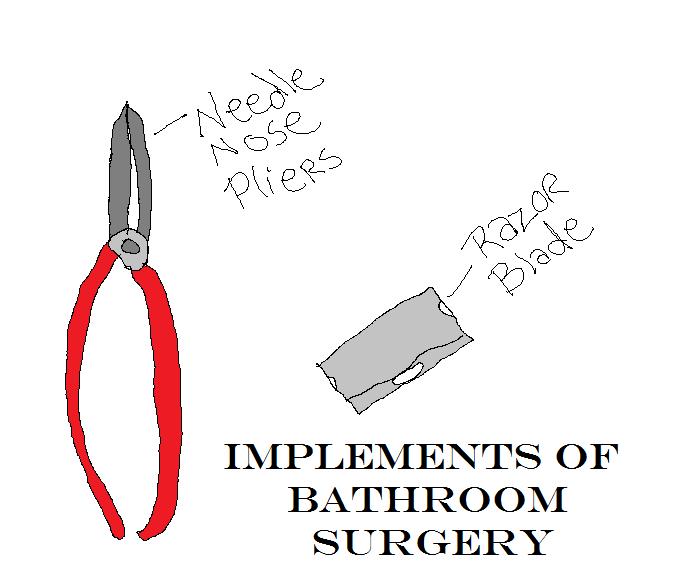 Stop Bathroom surgery, call your Houston podiatrist