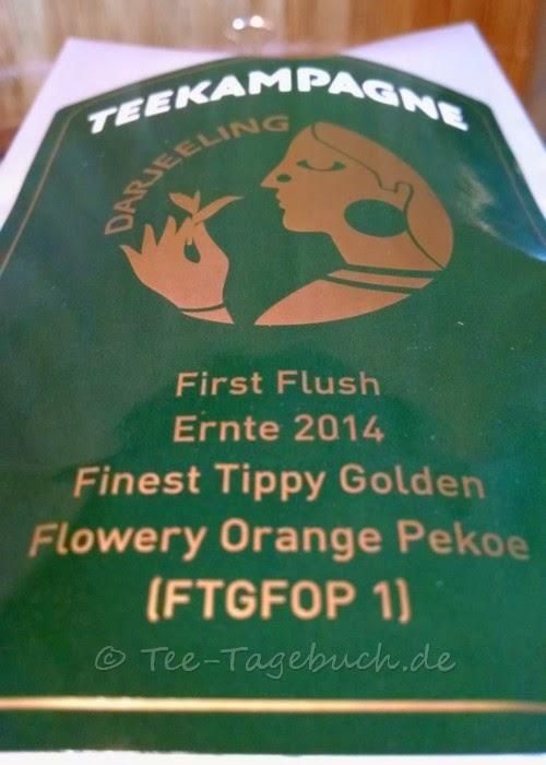 Teekampagne Darjeeling First Flush 2014 Etikett vorn
