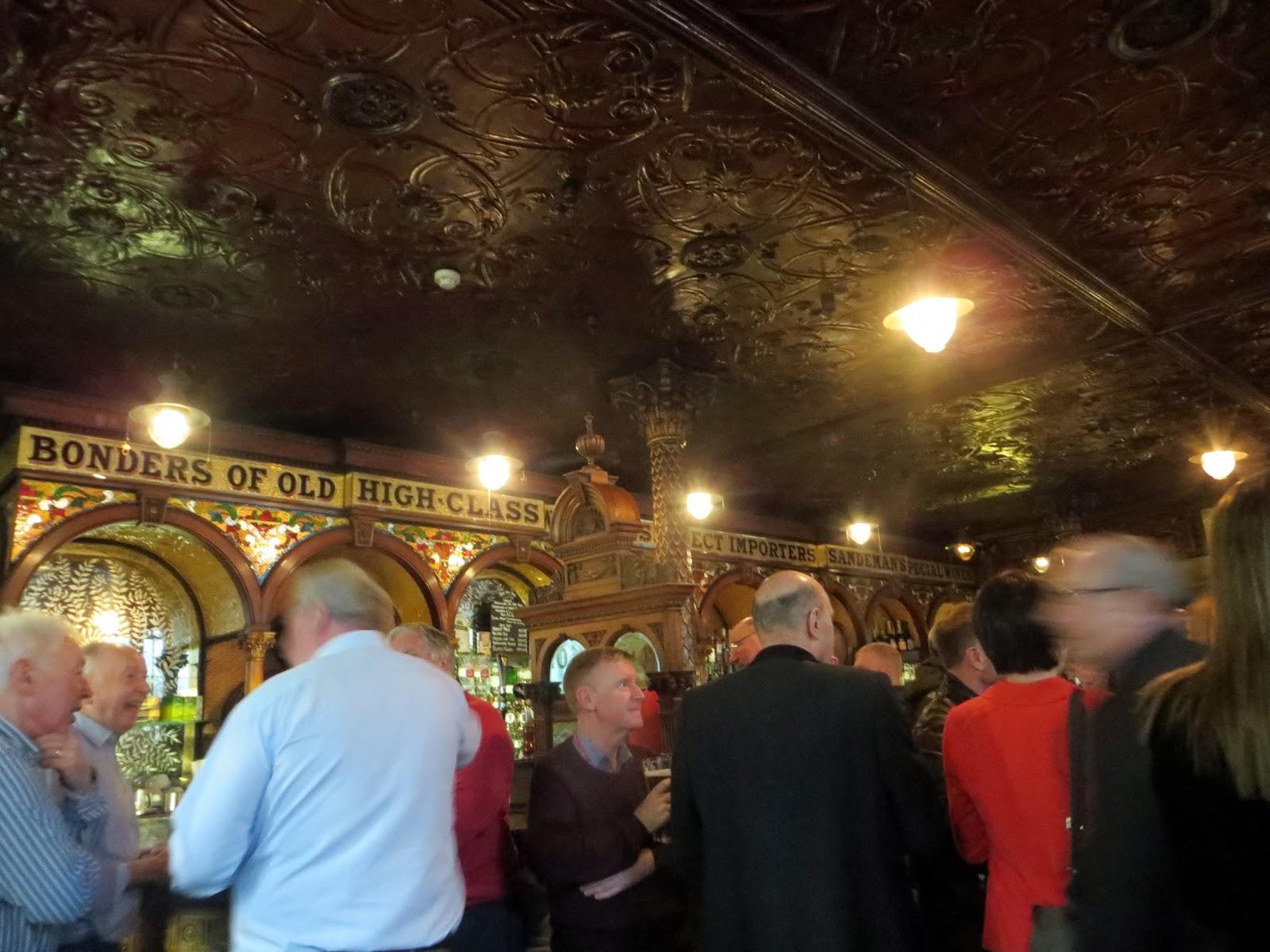 Crown pub inside, Belfast, Ireland, Northern Ireland, Murals, Troubles, Ulster, Political, Titanic,