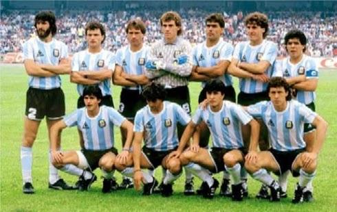 Seleção Argentina bicampeão mundial copa do mundo 1986