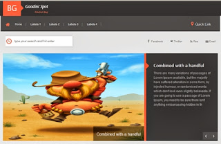auto slider blogspot template for game blog
