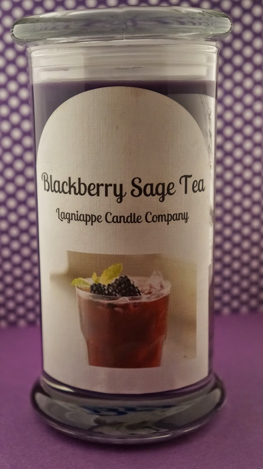 blackberry sage tea candle