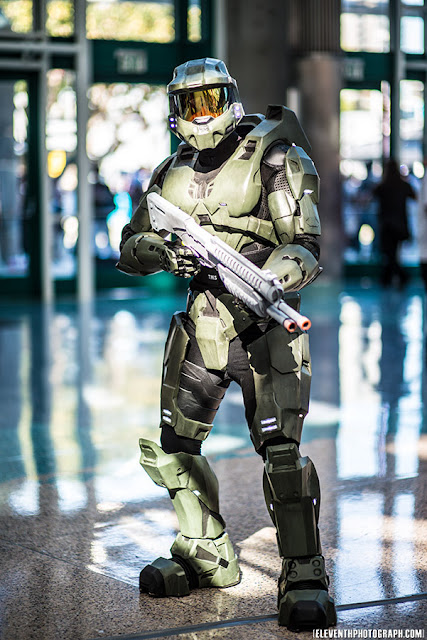 master chief cos play con