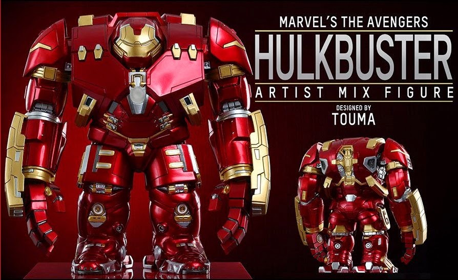 Marvel's Avengers Age of Ultron Artist Mix Figures Series 1 by Touma & Hot Toys - Hulkbuster Iron Man