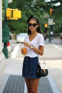 pollera de verano jean
