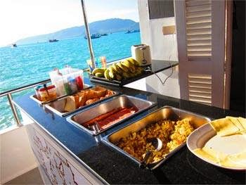 On the day trips and liveaboards you are sure to be well fed.