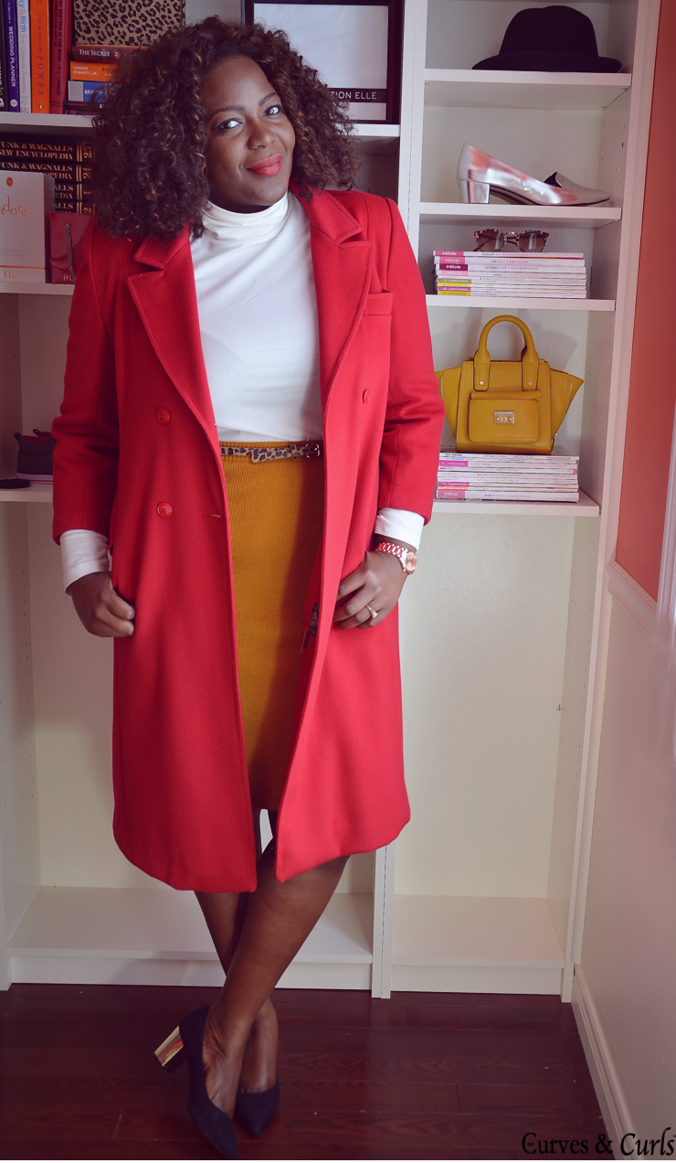 plus size fashion blogger, plus size fashion for women #redcoat #curvystyle #curvyfashion
