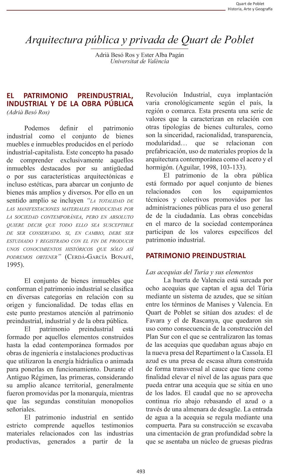 Patrimonio industrial arquitect nico documento de for Gimnasio quart de poblet