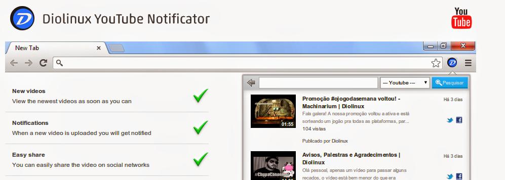 Extensão Diolinux para o nosso Canal no Youtube