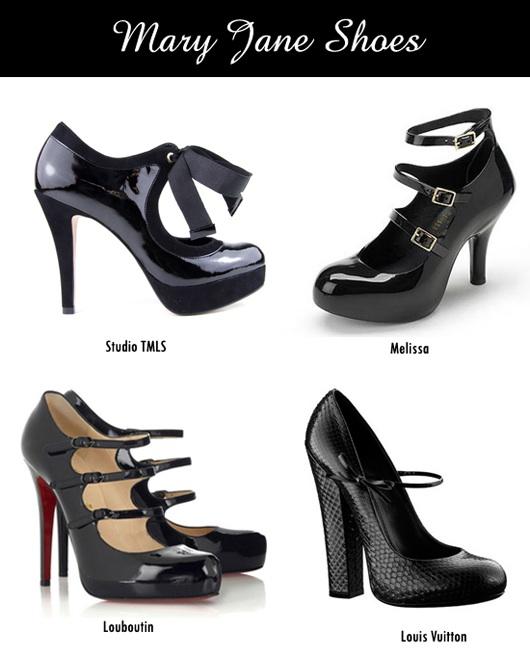 Novos modelos calçados Mary Jane