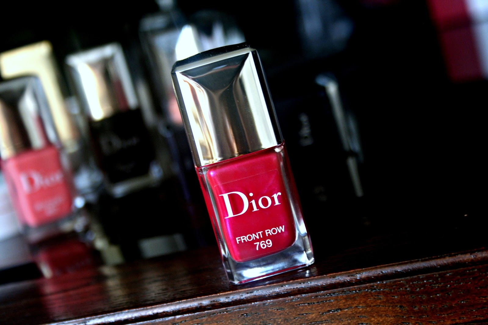 Dior Vernis Gel Shine and Long Wear Nail Lacquer Front Row 769