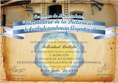 MENCIÓN MICRORRELATO BICENTENARIO INDEPENDENCIA ARGENTINA