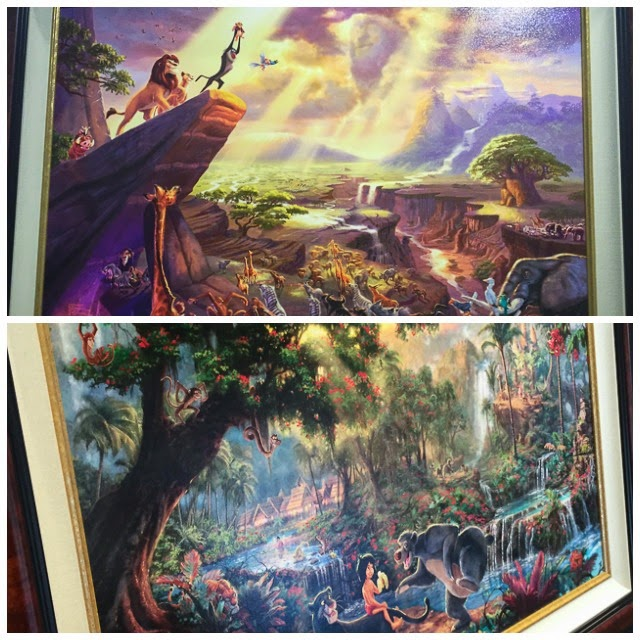 Scenes from Disney's The Lion King and The Jungle Book by Thomas Kincade