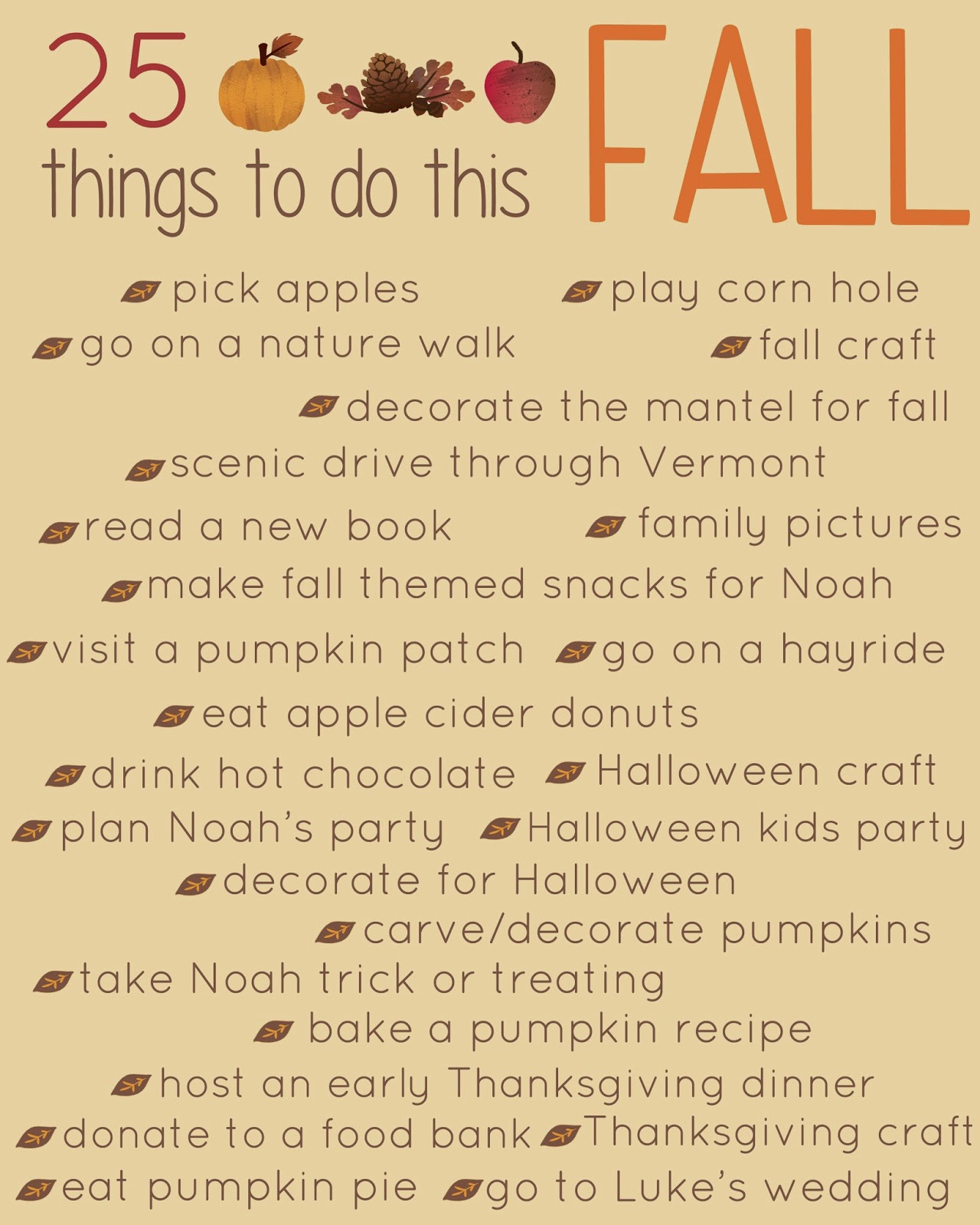 The adventure starts here 25 things to do this fall for List of things for thanksgiving dinners