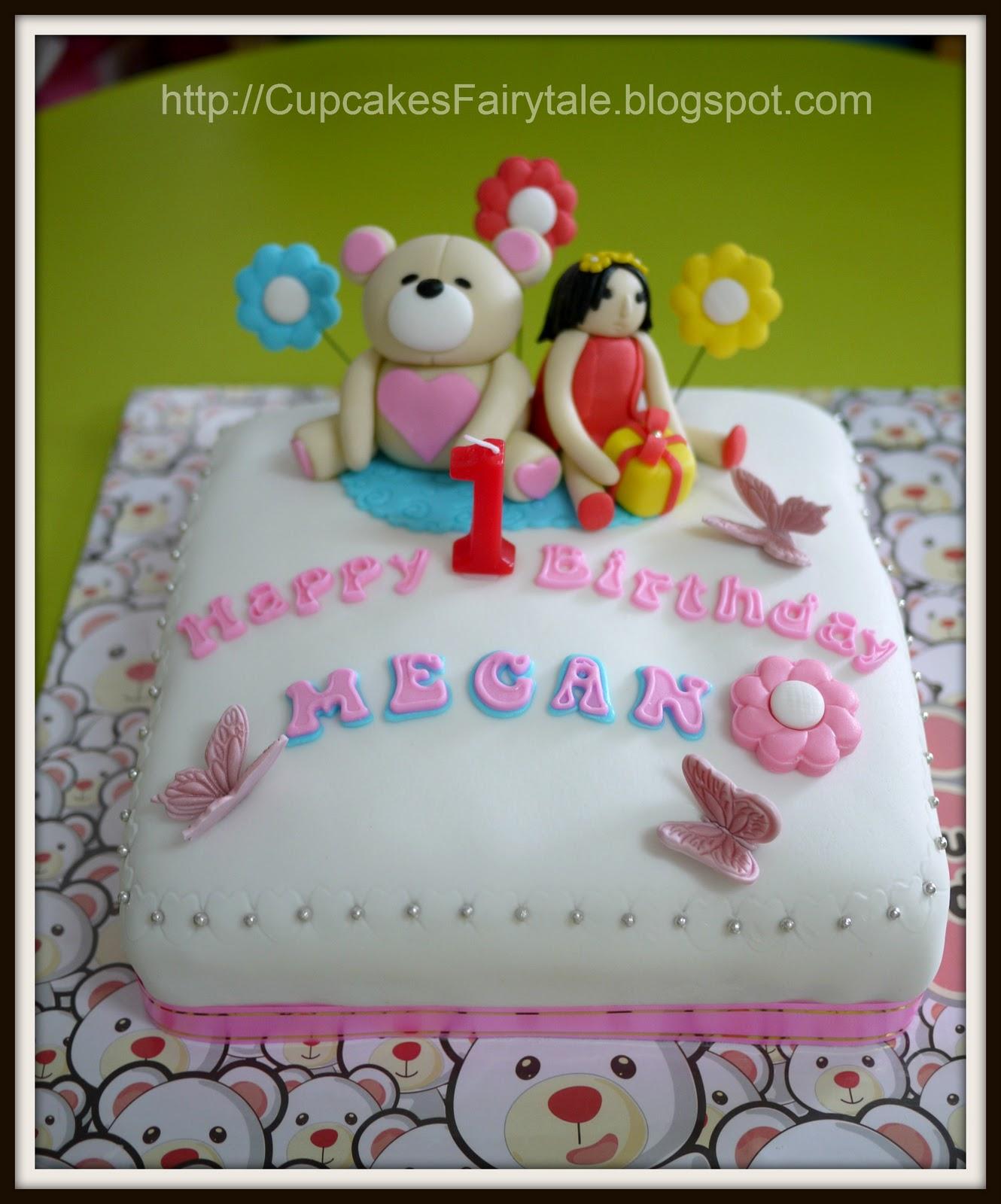 Cupcakes Fairytale Megan Tays 1st Birthday Cake