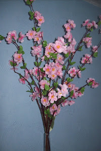 Hastes de pêssego rosa