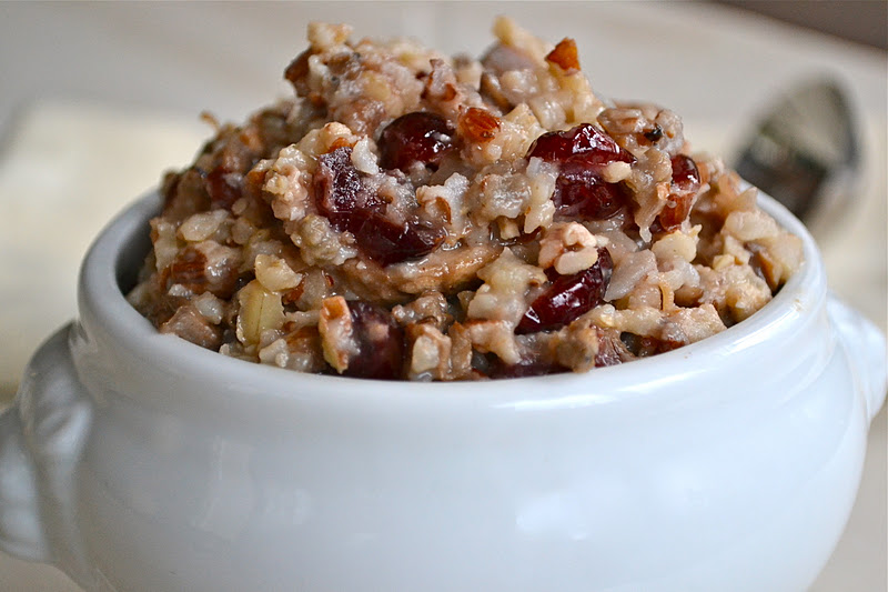 Wild Rice and Cranberry Stuffing - mother thyme