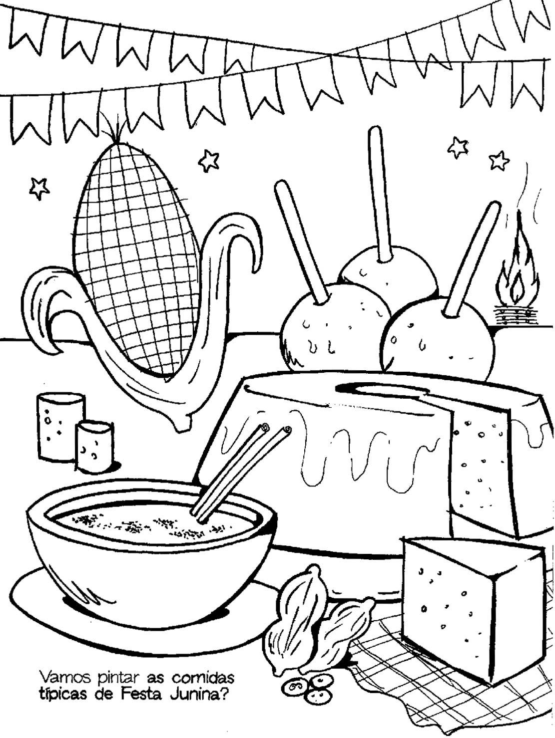 Desenhos para colorir festa de s o jo o for Caillou na piscina